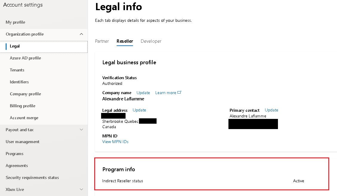 Microsoft Reseller Status