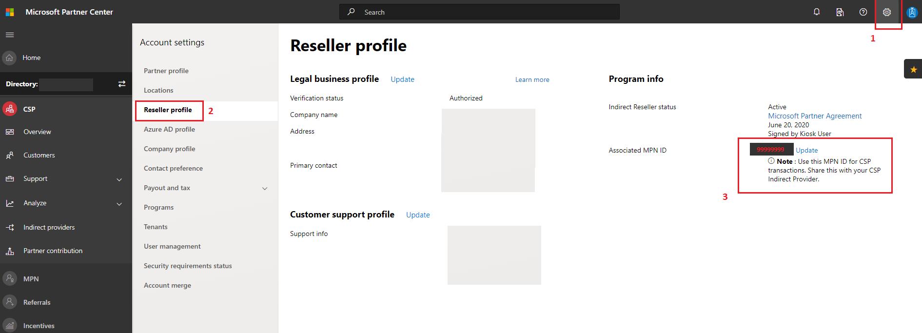 Reseller Profile Screenshot