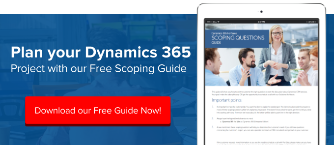 Scope Dynamics 365 Sales Project