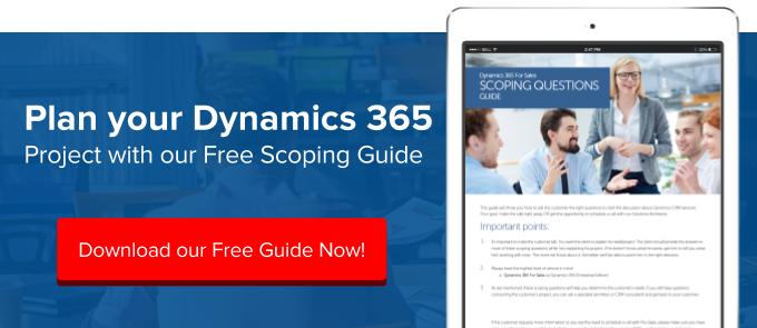 Scope Dynamics 365 Sales Project