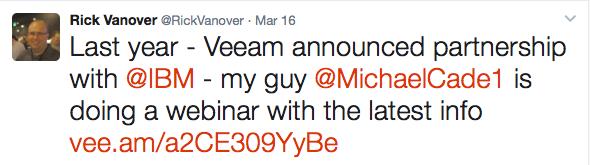 Rick Vanover Veeam Twitter Influencer