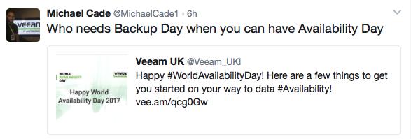 Michael Cade Veeam Twitter Influencer