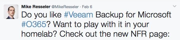 Mike Resseler Veeam Twitter Influencer