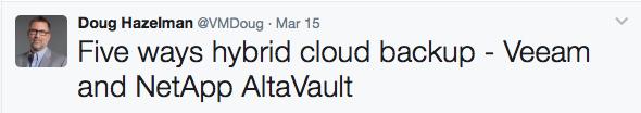 Doug Hazelman Veeam Twitter Influencer