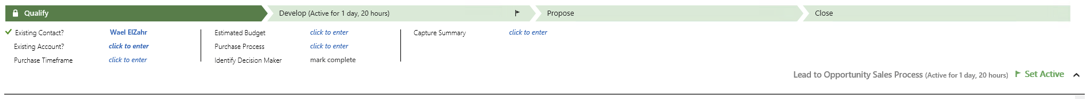 Dynamics 365: business process flow