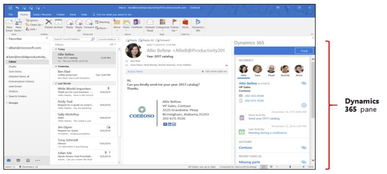Dynamics 365 App for Outlook