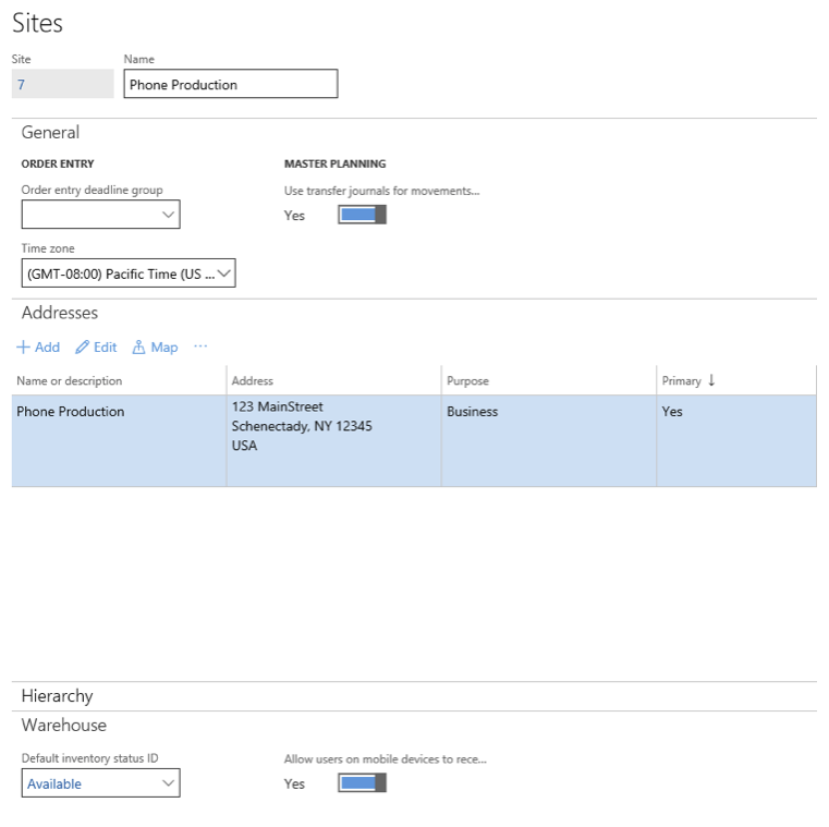 set up for discrete manufacturing in Dynamics 365 For Operation