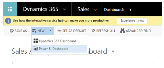 Dynamics 365: Power BI Dashboard