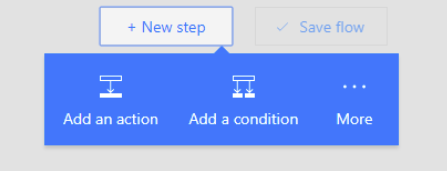 New Step and Add an action