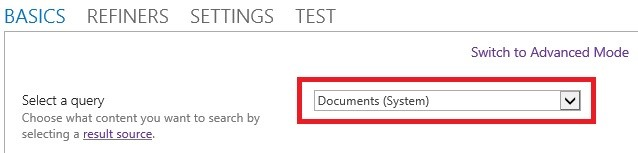 Select a source result