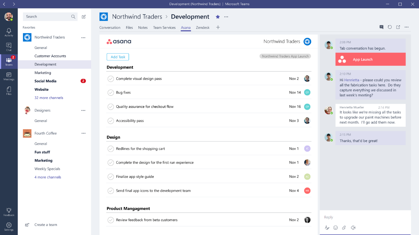 Microsoft Teams App Intergration Method 3: Tabs