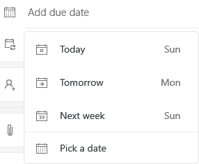 Microsoft To Do add due date