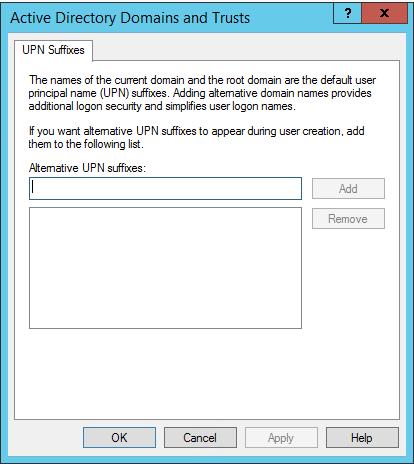 Adding User Principal Name at the Organizational Unit Level