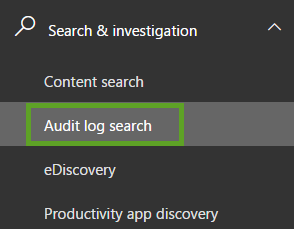 Executing Audit Log Searches-Step 1