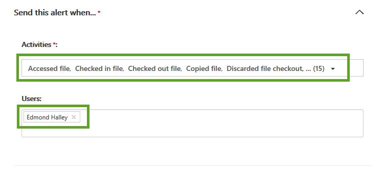 Setup Alerts for Audit Log Searches-Step 1