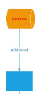 Visio online line label