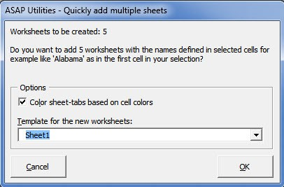 Office 365 Add-in: Quick Add Multiple Sheets Image