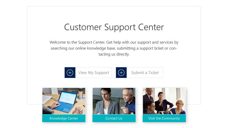 Dynamics 365 Customer Support Center