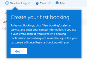 Create booking