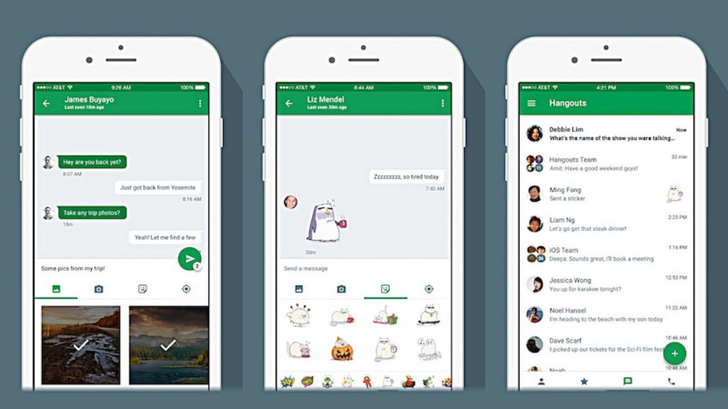 google hangouts mobile screenshot