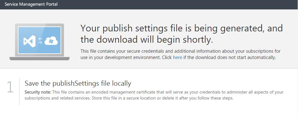 Performance Cloud Portal - Publish Settings