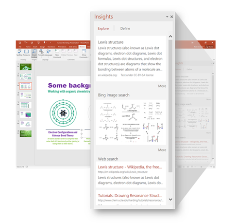 Smart Lookup - new features of Office 2016