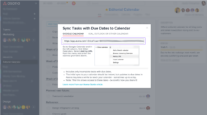 Asana for G Suite Sync
