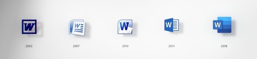 word icon evolution